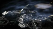 Daedalus class battlecruiser fires rail guns.jpg