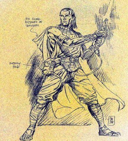 Archivo:Esquema de un Jedi con un Sable Antiguo.jpg