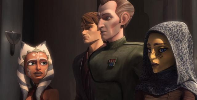 Archivo:Tarkin con Anakin viendo a Ahsoka y Barriss para arrestar a Una.png