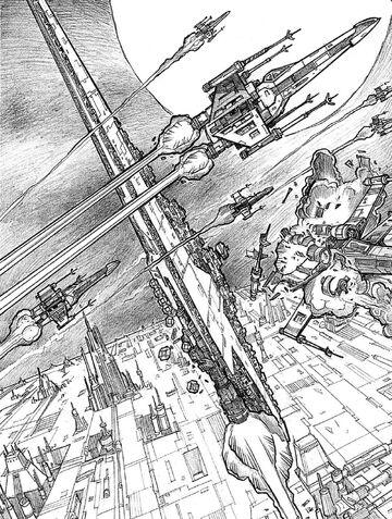 Archivo:Lusankya escaping Coruscant.jpg