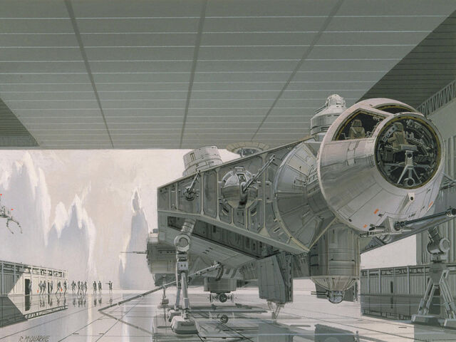Archivo:Ralph McQuarrie art of captive Falcon on Imperial capital planet of Alderaan.jpg