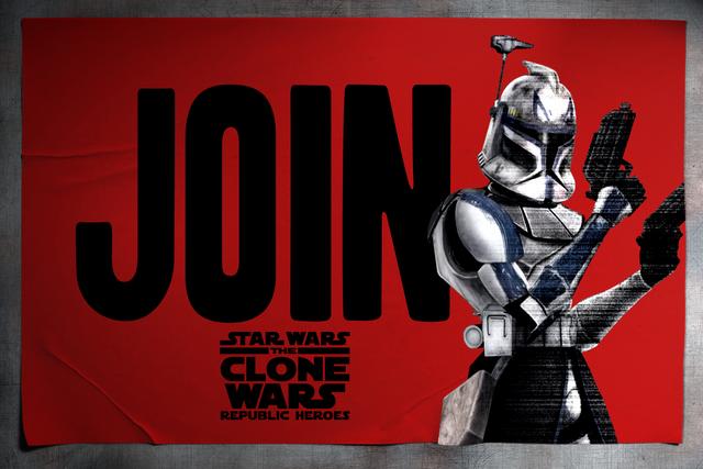 Archivo:Star Wars - The Clone Wars - Republic Heroes -- Rex advertising.png