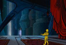Padme y C-3PO en su apartamento durante la Guerra de los Clones.jpg
