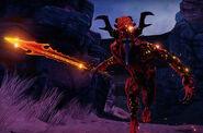 Desangrador con Espada Infernal