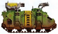 Guerreros Mantis Transporte Blindado Tropas Rhino Decima Compañia Marines Espaciales Astartes Wikihammer