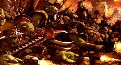Waaagh orkos warhammer 40k wikihammer.jpg