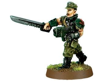 Mini GI coronel Scaeffer, oficial 13º legion penal