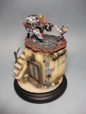 Dreadnought Caballeros Grises Golden Demon 2011 1 Warhammer 40k Wikihammer