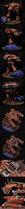 Miniatura diorama warhound caos vs land raider