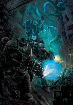 Guardianes de la Muerte Arca de las Almas Perdidas Mortis Thule Pecio Espacial Supervivencia Ordo Xenos Wikihammer.jpg