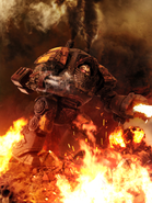 Red scorpions relic contemptor dreadnought by arkurion-d5hwda0