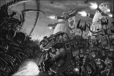 Orkos vs tiranidos BN.jpg