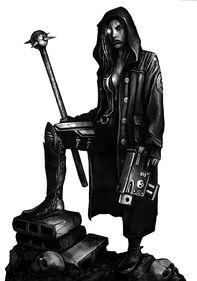 Ojo Bionico Maza Pistola Bolter Abrigo Antifrag Adeptus Arbites Wikihammer