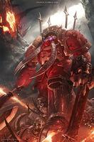 Exterminador Khorne Chun Lo ilustración