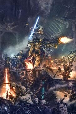Inquisidor con servoarmadura vs mutantes y herejes varios.jpg