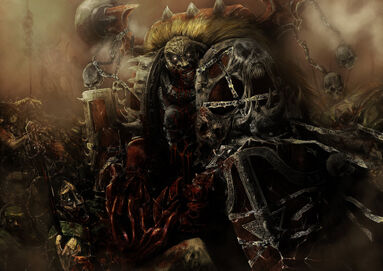 Portador de la Palabra caníbal devorando Guardia Imperial