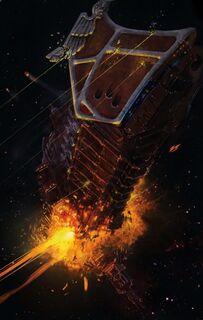 Destruccion Flota Diezmo Guerra de Badab Macrobaterias Garras Astrales Wikihammer
