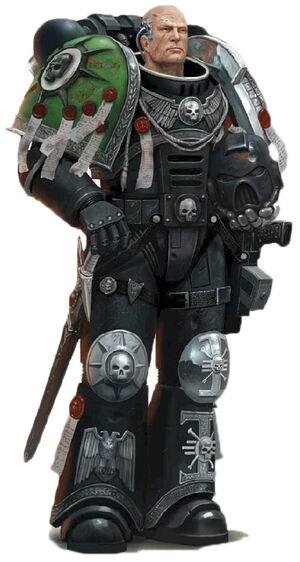 Guardianes de la Muerte Mathias Capitán de la Guardia Cabala Muerta Hijos Medusa Ordo Xenos Wikihammer.jpg