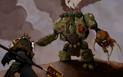 Caos Dreadnought nurgle vs capellán