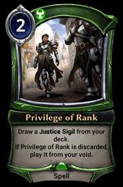 Privilege of Rank