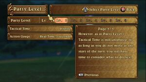 Party Level Increase - Tactical Time Explanation