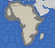 """Map showing province that can form Tangiers"""