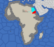 """""""Map showing Nubia's starting position in 1773 and 1795"""""""