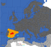 """""""Map showing Spain's European possessions in 1773"""""""