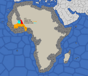 Map showing Songhai's starting position in 1419