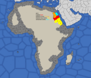 """""""Map showing Nubia's starting position in 1492"""""""