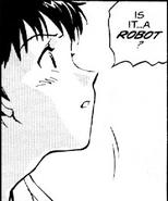Shinji in the manga