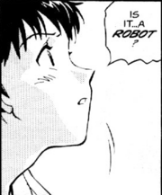 Shinji in the manga