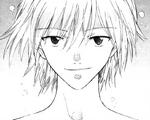 Kaworu in the manga