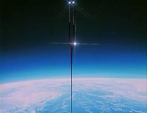 Lance in orbit