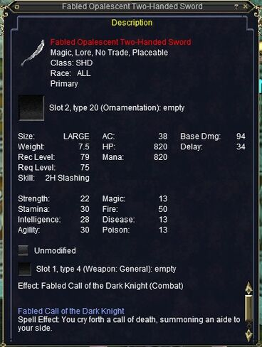 Fabled Opalescent Two-Handed Sword