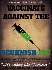 Scurnish flu poster