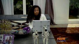 Katie looking on laptop