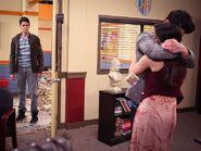Jemma hugging
