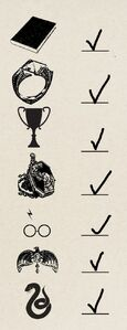 Lord Voldemort's Seven Horcruxes