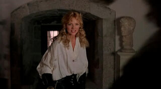 Justine de Winter (played by Kim Cattrall) The Return of the Musketeers 2050