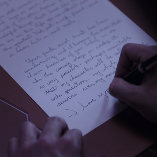 The tone of the episode implied that this could be a suicide note to Jodie