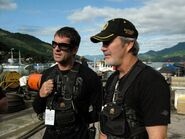 Expendables- Noon Orsatti and Andy Gill on-set