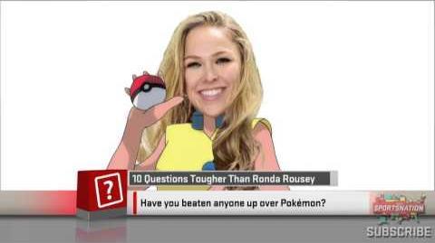 Ronda Rousey Loves Pokemon