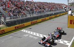 2012 Canadian Grand Prix Hamilton Wins