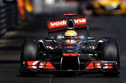 2011 Monaco Grand Prix Hamilton Damaged Wing
