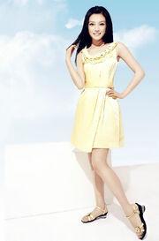 Zhao Wei Yellow Dress Full