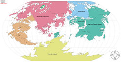 A political map of the planet Arzor.