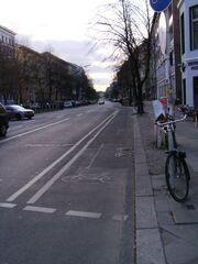 Kreuzbergstraße - Radfahrstreifen