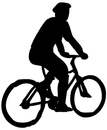 Datei:Bicyclist Sillouette.png