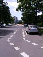 Schutzstreifen Groß-Ziethener Straße
